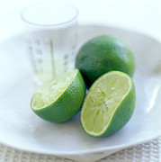 Tangy Photo Prints - Squeezed Lime Print by David Munns