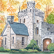 North Chagrin Reservation Framed Prints - Squires Castle Framed Print by Lisa Urankar