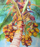 Fronds Paintings - Squires Coconuts by AnnaJo Vahle