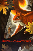 Winchester Posters - Squirrel Hunting Poster by Weimer Pursell