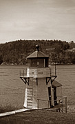 Maine Lighthouses Photo Posters - Squirrel Point Lighthouse Poster by Skip Willits