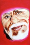 Sai Baba Paintings - Sri Shirdi Sai Baba  by Kalpana Gandhi
