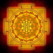 Yantra Framed Prints - Sri Yantra Framed Print by Dirk Czarnota