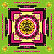 Sri Yantra Mandala Print by Steeve Dubois