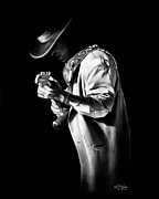 Stevie Ray Vaughn Posters - SRV Couldnt Stand the Weather Poster by Jerry Lee