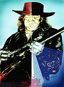 Guitar Player Prints - Srv Print by Kathleen Kelly Thompson
