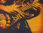 Stratocaster Drawings Prints - SRV  Number One Fender Stratocaster Print by Eric Dee