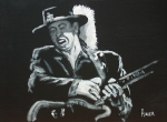 Black Blues Prints - Srv Print by Pete Maier