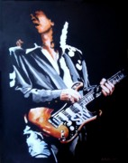 Stevie Ray Vaughn Posters - Srv Poster by Robert Kotrola