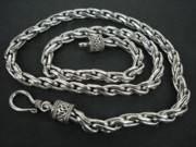 White Topaz Jewelry - SS Bali Twisted Chain Necklace 6mm with Hook by fmnjewel - Fernando Situmeang