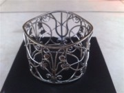 Sterling Silver Earring Jewelry - SS Bangle with Flower and Wire Works by fmnjewel - Fernando Situmeang