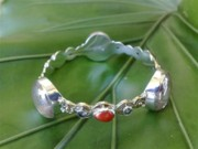 Sterling Silver Chains Jewelry - SS Bangle with Ice Clear Glass Gem Marbles  by fmnjewel - Fernando Situmeang