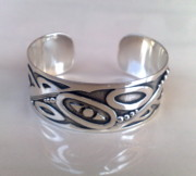 Sterling Silver Earring Jewelry - SS Cuff with Contemporary Designs by fmnjewel - Fernando Situmeang