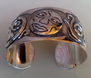 Sterling Silver Chains Jewelry - SS Cuff with Moon Face by fmnjewel - Fernando Situmeang
