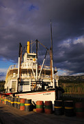 Yukon River Prints - S.S. Klondike under Midnight Sun Print by Charline Xia