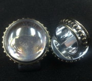 Byzantine Originals - SS Ring with Ice Clear Glass Gem Marbles  by fmnjewel - Fernando Situmeang