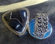 Byzantine Originals - SS Ring with Indonesian Black Drusy by fmnjewel - Fernando Situmeang