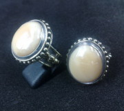 Byzantine Photo Originals - SS Ring with Santa Fe Glass Gem Marbles  by fmnjewel - Fernando Situmeang