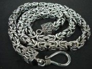 Byzantine Jewelry Originals - SS Square Byzantine Chain Necklace 8mm with Hook by fmnjewel - Fernando Situmeang