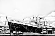 Ocean Liner Framed Prints - SS United States Framed Print by Bill Cannon