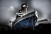 Ocean Liner Framed Prints - SS United States Framed Print by Wayne Higgs