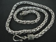 Byzantine Originals - SS Wheat Chain  Necklace 6mm with Hook by fmnjewel - Fernando Situmeang