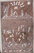 Indian Tribal Art Paintings - Ssm 02 by SadaShiv Mashe