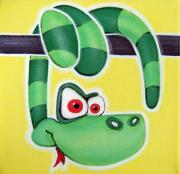 Jungle Pastels Originals - sssNAKE by Mara Morea
