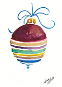 Michele Hollister - for Nancy Asbell - SStriped Antique Ornament