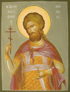 Egg Tempera Prints - St Alexander Nevsky Print by Julia Bridget Hayes