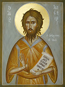 Byzantine Icon Prints - St Alexios the Man of God Print by Julia Bridget Hayes