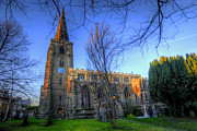 Religious Framed Prints Prints - St Andrews Church - Kegworth Print by Yhun Suarez