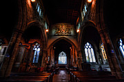 Religious Framed Prints Prints - St Andrews Church - The Nave Print by Yhun Suarez