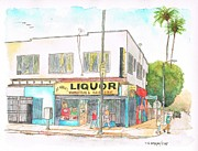 Tiles Originals - St-Andrews-Liquor-Hollywood-Blvd-Hollywood-CA by Carlos G Groppa