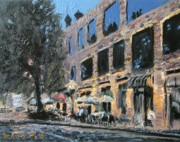 Bistro Paintings - St. Anthony Main by Laura Toth