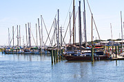 Docked Sailboat Framed Prints - St Augustine Framed Print by Jim Finch