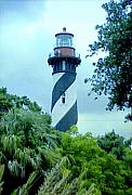 Florida Lighthouse Artwork - St Augustine Lighthouse by Frederic Kohli
