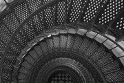 Florida House Prints - St. Augustine Lighthouse Spiral Staircase I Print by Clarence Holmes