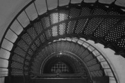 Lighthouse Photo Prints - St. Augustine Lighthouse Spiral Staircase II Print by Clarence Holmes
