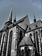 St. Bartholomew Cathedral - Pilsen Print by Juergen Weiss