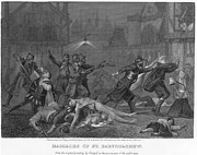 Discrimination Photo Prints - St Bartholomews Massacre Print by Granger