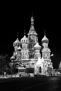 St Basils Church In Red Square  Print by Philip Neelamegam