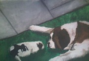 Puppies Originals - St. Bernards by Dana Mitchell