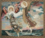 Seagulls Paintings - St. Bride by John Duncan