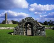 Monasticism Metal Prints - St Brigids Church, Inis Cealtra Holy Metal Print by The Irish Image Collection