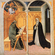 15th Century Prints - St. Catherine Of Siena Print by Granger