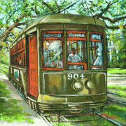 Trolley Framed Prints - St. Charles No. 904 Framed Print by Dianne Parks