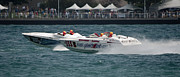 Colorful Photos Originals - St. Clair Michigan USA Power Boat Races-1 by Paul Cannon
