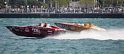 Colorful Photos Originals - St. Clair Michigan USA Power Boat Races-2 by Paul Cannon
