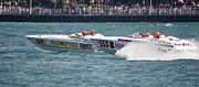 Colorful Photos Originals - St. Clair Michigan USA Power Boat Races-3 by Paul Cannon